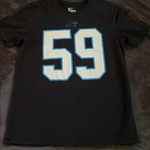 Black and blue. Luke kuechly shirt